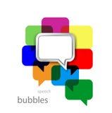 Bubbla för vektormetallanförande på färg Royaltyfri Bild