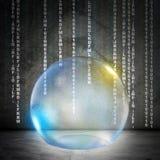 Bubbla på abstrakt grå bakgrund Royaltyfri Bild