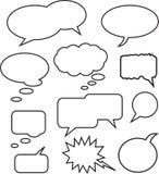 bubblaanförande vektor illustrationer