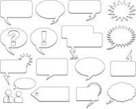 bubblaanförande Arkivbild