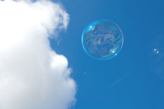 bubblaflyg royaltyfri bild