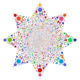 Bubblafyrverkeriblomma stock illustrationer