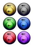 bubblaknappar vektor illustrationer