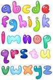 bubblan letters litet royaltyfri illustrationer