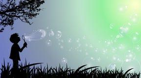Bubblapojke Arkivbild