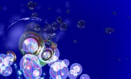 Bubblar fotografering för bildbyråer