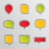 Bubblar för anförandeuppsättning. Arkivbilder