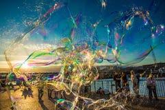 Bubblar london Fotografering för Bildbyråer