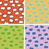 Bubblar Seamless anförande fyra texturerar royaltyfri illustrationer