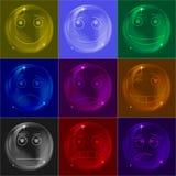 Bubblar smileys som är färgrika Arkivbild