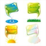 Bubblar uppsättning-naturen royaltyfri illustrationer