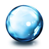 Bubblasymbol - blått vektor illustrationer