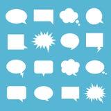 Bubblauppsättning för tomt samtal royaltyfri illustrationer