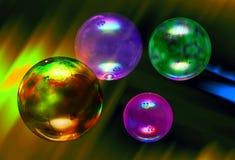 Bubble. Reflection Soap bubbles in flight Stock Image