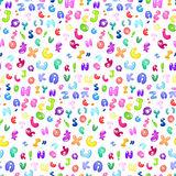 Bubble abc pattern Royalty Free Stock Photos