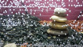 Bubble aquarium. Underwater bubble aquarium stones Stock Images