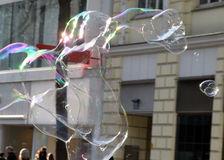 Bubble as joy and fun for children Royalty Free Stock Photo