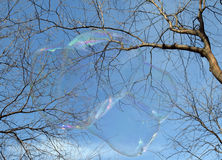 Bubble as joy and fun for children Stock Images