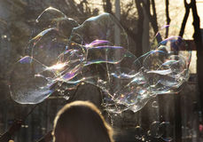 Bubble as joy and fun for children Royalty Free Stock Image