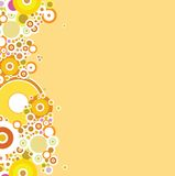 Bubble autumn. An abstract background made of circle with a autumn theme stock illustration