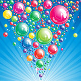 Bubble background. An illustration for your design Stock Photo