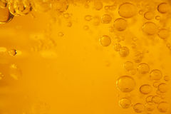 Bubble background. Yellow background with bubbles going up stock image