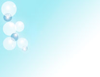 Bubble Background. Blue bubbles over cloudy blue background Stock Photo