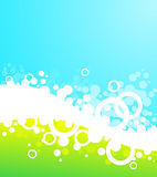 Bubble background. Landscape bubble background, green and blue Stock Images