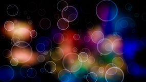 Bubble background. Abstract bubble circles on colorful background Royalty Free Stock Image
