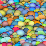 Bubble balls backdrop in multiple bright colors Royalty Free Stock Photos
