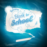 Bubble banner on school board background. EPS 10 Stock Photo