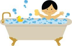 Bubble Bath. A boy having a bubble bath Stock Photography