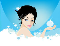 Bubble bath Stock Images