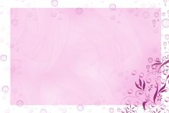 Bubble Bath. Bubble border on pink abstact with floral design Stock Image