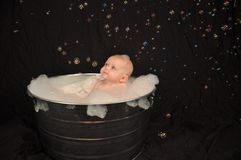 Bubble Bath Baby Royalty Free Stock Photography