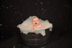 Bubble Bath Baby Stock Images