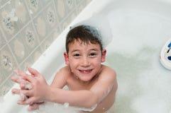 Bubble bath boy Royalty Free Stock Photography
