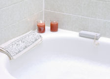 Bubble Bath with Candles Stock Photography