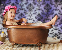 Bubble Bath Diva Stock Photo