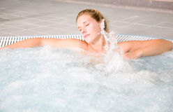Bubble bath relaxation royalty free stock images