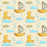 Bubble bath seamless pattern. Illustration Royalty Free Stock Images