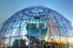 The bubble (biosphere) by Renzo. Piano, is located by the sea, to the side of the Aquarium of Genoa and houses inside a tropical environment royalty free stock photos