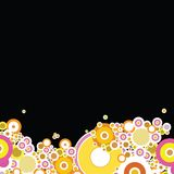 Bubble black. A black desktop or background image with an abstract slant vector illustration