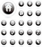 Bubble black Royalty Free Stock Images