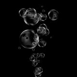 Bubble on black Stock Photos