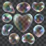 Bubble blower mockup set, realistic style. Bubble blower mockup set. Realistic illustration of 10 bubble blower mockups for web royalty free illustration