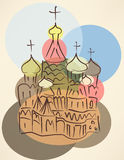 Bubble blower sketch of traditional russian church Stock Image