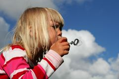 Bubble blowing Royalty Free Stock Images