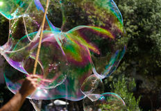 Bubble blowing Royalty Free Stock Photos
