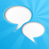 Bubble blue. Blue paper background with speech bubbles Stock Photo